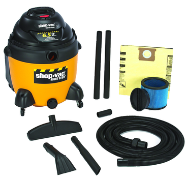 "Shop-Vac Model #9625310 - 18 Gallon 6.5 HP with 1.5"" x 12' hose; (2) 1.5"" wands; new 14"" floor nozzle; blow molded crevice; and claw nozzle - D&T Industrial Supply"
