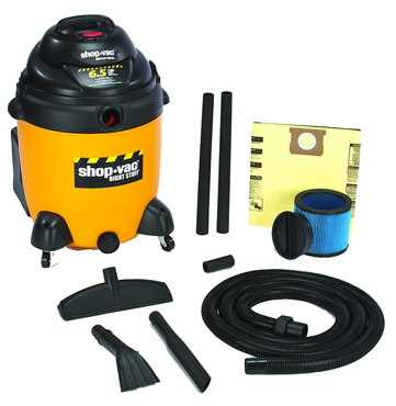 "Shop-Vac Model #9625410 - 22 Gallon 6.5 HP with 1.5"" x 12' hose; (2) 1.5"" wands; new 14"" floor nozzle; blow molded crevice; and claw nozzle - D&T Industrial Supply"