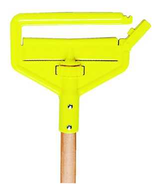 "Rubbermaid Invader® Side Gate Wet Mop Handle, Large Yellow Plastic Head, Hardwood Handle -- Should be used with 1"" headband mops only - D&T Industrial Supply"