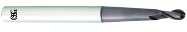 OSG USA, Inc. 6mm Dia. - 110mm OAL - Carbide - Ball End HP End Mill-2 FL - D&T Industrial Supply