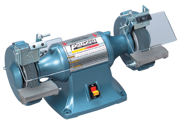 "Palmgren Bench Grinder- 6x3/4x1/2"" Wheel; 1/3HP; 1PH; 120V Motor - D&T Industrial Supply"