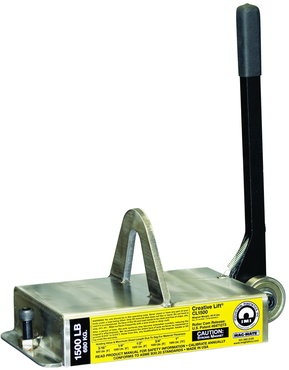 Mag-Mate Mag Lifting Device- Flat Steel Only- 1500lbs. Hold Cap - D&T Industrial Supply