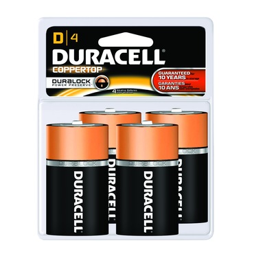 Duracell Coppertop D 4 Pack - D&T Industrial Supply