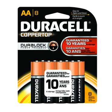 Duracell Coppertop AA 8Pack - D&T Industrial Supply
