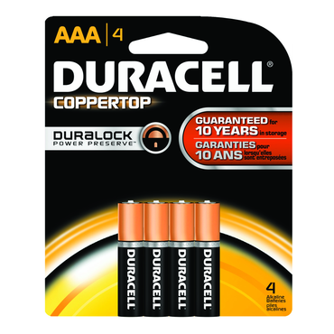 Duracell Coppertop AAA 4 Pack - D&T Industrial Supply