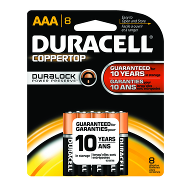 Duracell Coppertop AAA 8 Pack - D&T Industrial Supply