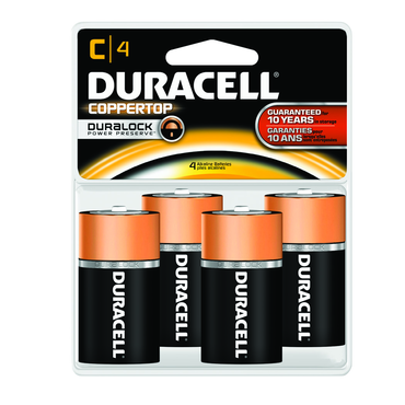 Duracell Coppertop C 4 Pack - D&T Industrial Supply