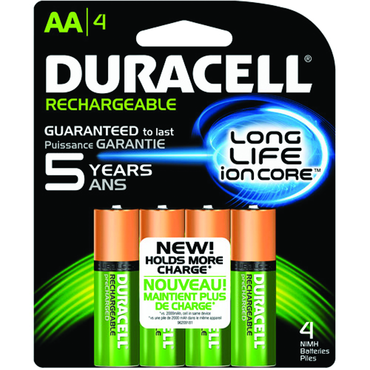 Duracell AA NiMH Rechargeable 4 Pack - D&T Industrial Supply