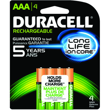 Duracell AAA NiMH Rechargeable 4 Pack - D&T Industrial Supply
