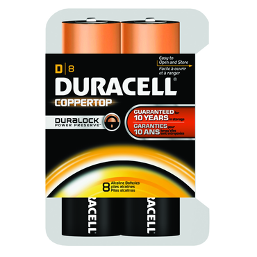 Duracell Coppertop D 8 Pack - D&T Industrial Supply