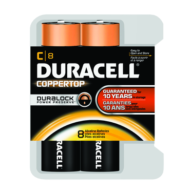 Duracell Coppertop C 8 Pack - D&T Industrial Supply