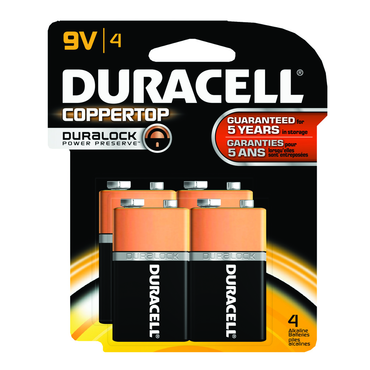 Duracell Coppertop 9 volt 4 Pack - D&T Industrial Supply