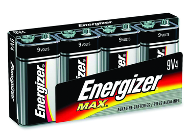 Energizer 9V Max Alkaline Battery 4 Pack - D&T Industrial Supply