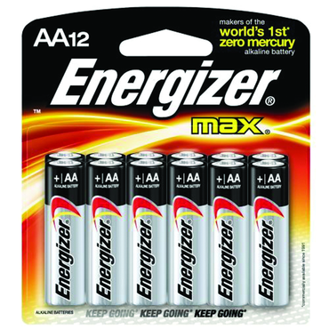 Energizer AA Max Alkaline Battery 12 Pack - D&T Industrial Supply