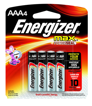 Energizer AAA Max Alkaline Battery 4 Pack - D&T Industrial Supply