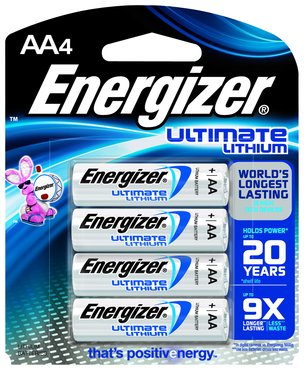 Energizer AA Lithium Battery 4 Pack - D&T Industrial Supply