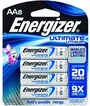 Energizer AA Lithium Battery 8 Pack - D&T Industrial Supply