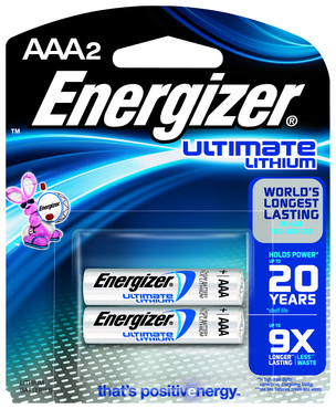 Energizer AAA Lithium Battery 2 Pack - D&T Industrial Supply
