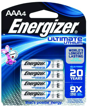 Energizer AAA Lithium Battery 4 Pack - D&T Industrial Supply