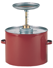 Eagle #P702; 2 Quart Capacity - Safety Plunger Can - D&T Industrial Supply