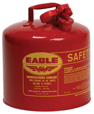 Eagle #UI20S; 2 Gallon Capacity - Type I Safety Can - D&T Industrial Supply