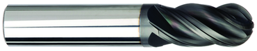 "Imco 1/8"" Dia. - 1-1/2"" OAL - AlTiNX CBD-Ball End HP End Mill-4 FL - D&T Industrial Supply"