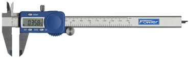 "Fowler 0 - 12"" / 0 - 300mm Measuring Range (.0005"" / .01mm Res.) - Xtra-Value Electronic Caliper - D&T Industrial Supply"