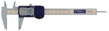 "Fowler 0 - 6"" / 0 - 150mm Measuring Range (.0005"" / .01mm; fractions in 1/64 increments Res.) - Poly- Cal Electronic Caliper - D&T Industrial Supply"