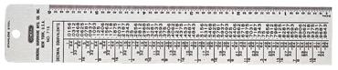 General #715 - Decimal Reference Table - D&T Industrial Supply