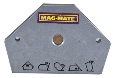 Mag-Mate Magnetic Welding Square - 10 Angle - 3-3/8 x 1/2 x 2-9/16'' (L x W x H) - 23 lbs Holding Capacity - D&T Industrial Supply