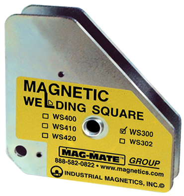 Mag-Mate Magnetic Welding Square - Standard Heavy Duty - 3-3/4 x 3/4 x 4-3/8'' (L x W x H) - 75 lbs Holding Capacity - D&T Industrial Supply