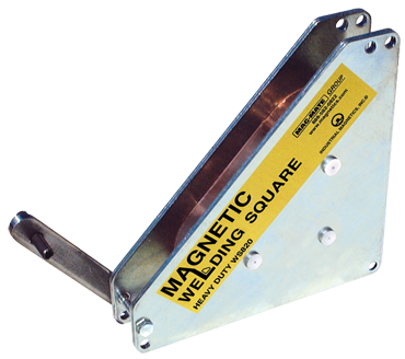 Mag-Mate Magnetic Welding Square - Super Heavy Duty - 8 x 1-5/8 x 8'' (L x W x H) - 325 lbs Holding Capacity - D&T Industrial Supply