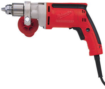 Milwaukee #0202-20 - 7.0 No Load Amps - 0 - 1200 RPM - 3/8'' Keyless Chuck - Corded Reversing Drill - D&T Industrial Supply