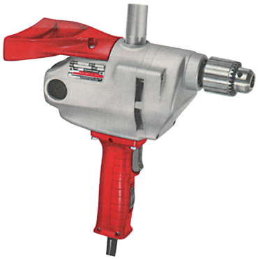 Milwaukee #1610-1 - 7.0 No Load Amps - 650 RPM - 1/2'' Keyed Chuck - D-Handle Reversing Drill - D&T Industrial Supply