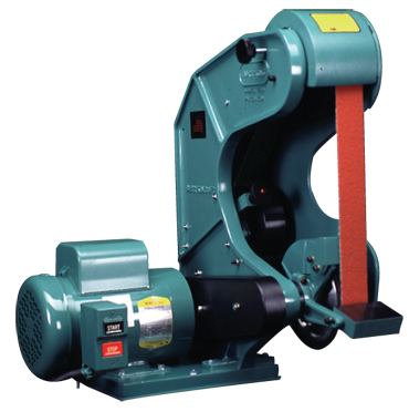 Burr King Belt Grinder - #760MC150A; 1-1/2 x 60'' Belt; 1.5HP; 1PH; 230V Motor - D&T Industrial Supply