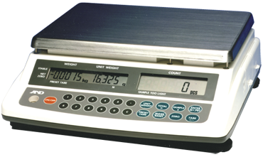 AND #HC-15KI - 30 lb x .005 lb (15 kg x .002 kg) Capacity - Counting Scale - D&T Industrial Supply