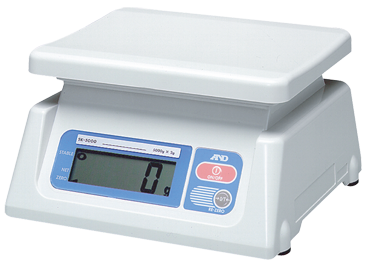 AND #SK10KWP - 22 lb x .01 lb (10 kg x .005 kg) Capacity - Stainless Steel Washdown Scale - D&T Industrial Supply