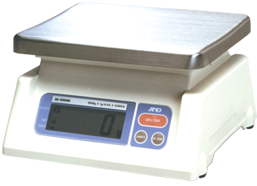 AND #SK2000 - 4.4 lb x .002 lb (2000g x 1g) Capacity - Digital Scale - D&T Industrial Supply