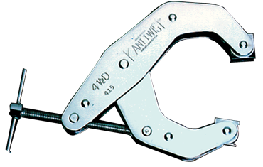 Kant-Twist T-Handle Deep Throat Clamp - 4-1/2'' Throat Depth, 6'' Max. Opening - D&T Industrial Supply