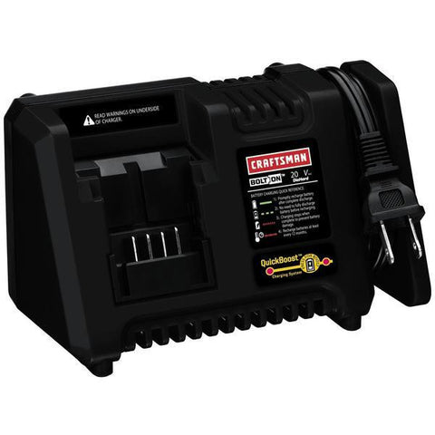CRAFTSMAN BOLT-ON ™ 20 VOLT MAX* QUICKBOOST® LITHIUM ION CHARGER - D&T Industrial Supply