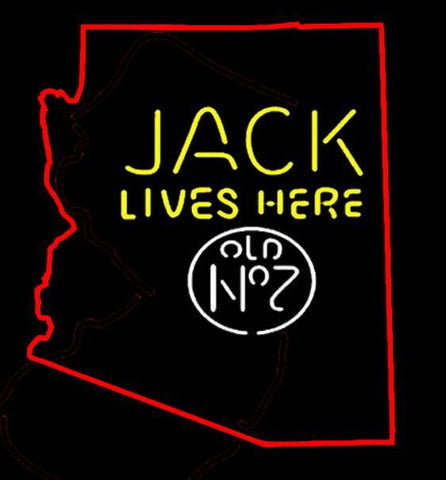 Jack Daniels Jack Lives Here Arizona Neon Sign