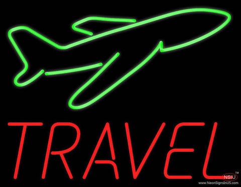 Travel Real Neon Glass Tube Neon Sign