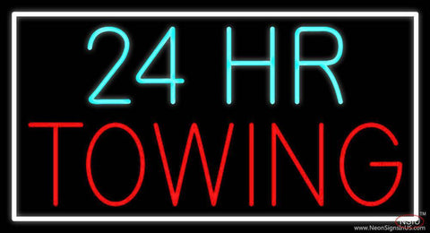 Hour Red Towing Real Neon Glass Tube Neon Sign