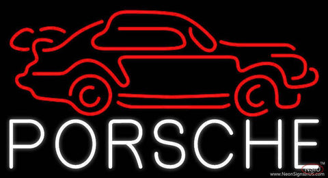 Porsche Car Real Neon Glass Tube Neon Sign