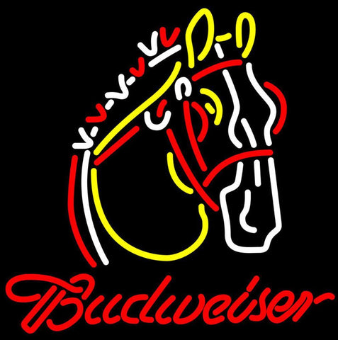 Budweiser Logo Hors Neon Beer Sign Giant