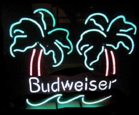 Budweiser Double Palm Vintage Neon Sign