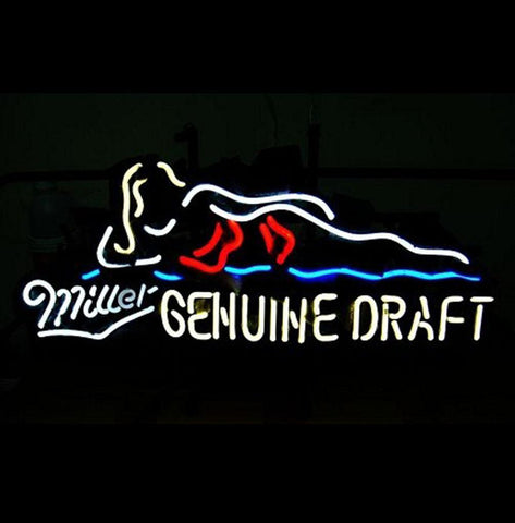 Miller Lite Genuine Draft Beer Bar Neon Light Sign