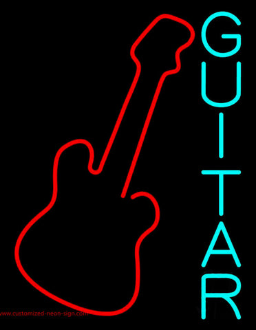 Blue Guitar 2 Neon Sign