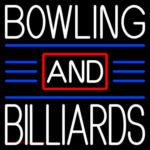 Bowling And Billiards 1 Neon Sign