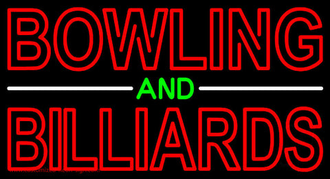 Bowling And Billiards Neon Sign